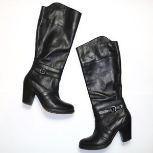 Ariat High Society Black Leather Heeled Tall Boots
